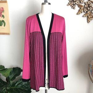 Misook Open Front Knit Cardigan Jacket